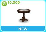 邸宅 茶色 サイドテーブル(The Sims フリープレイ)