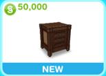 邸宅 茶色 ベッドサイドテーブル(The Sims フリープレイ)