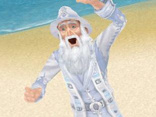 生き生きと喜ぶ魔法使いウィッカム(The Sims フリープレイ)