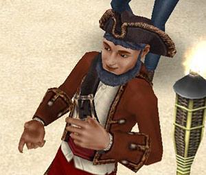ラブ&トレジャーイベント番組司会者、LJ・シウバ(The Sims フリープレイ)