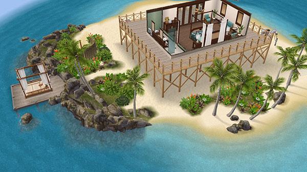 プライベートアイランドと邸宅(The Sims フリープレイ)