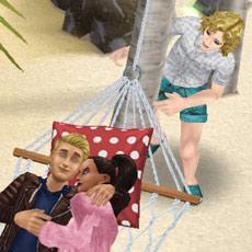 プリムと超人気俳優ブライアンのデートを尾行するシム(The Sims フリープレイ)