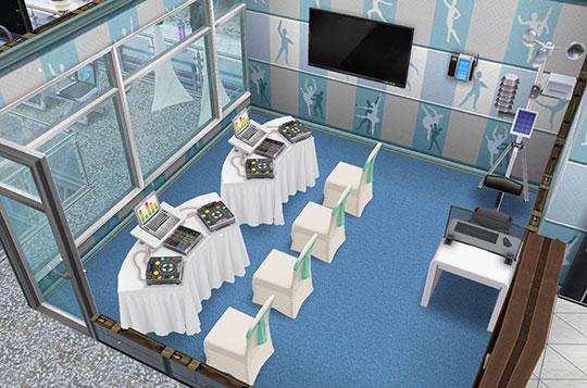 アイスホッケースタジアム、放送席(The Sims フリープレイ)