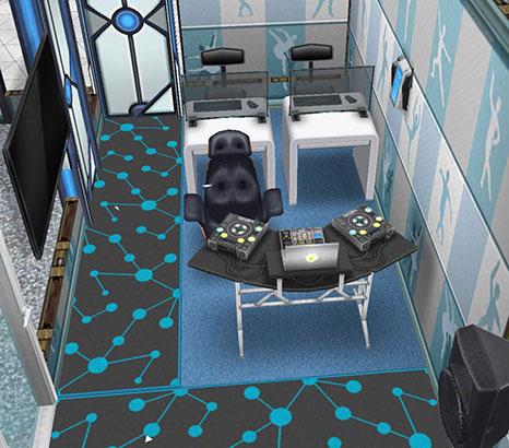 アイスホッケースタジアム、総合管理室(The Sims フリープレイ)
