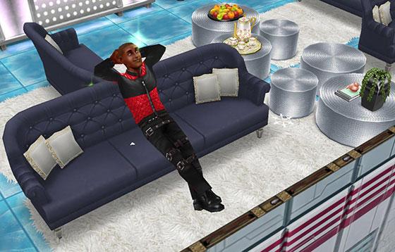 アイスホッケースタジアム、VIP専用ボックスシートでゆったりするシム(The Sims フリープレイ)