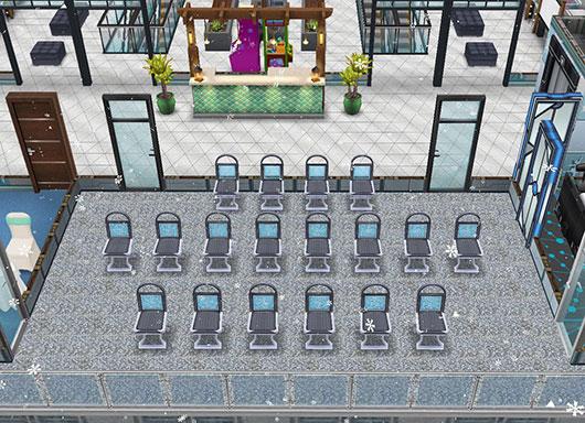 アイスホッケースタジアム2階、正面スタンド席(The Sims フリープレイ)