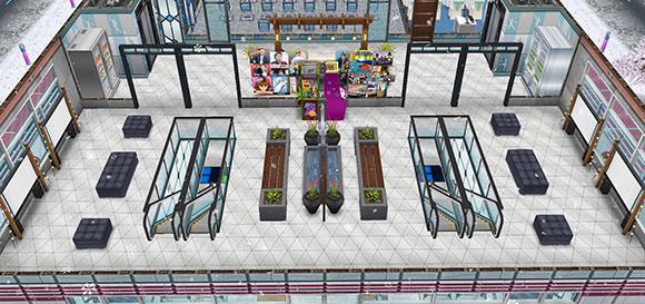 アイスホッケースタジアム2階ロビー(The Sims フリープレイ)