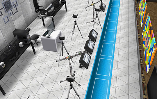 アイスホッケースタジアムのインタビューエリア(The Sims フリープレイ)