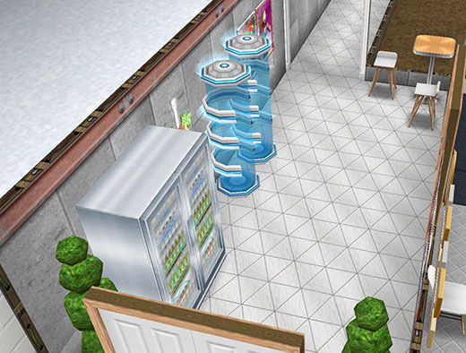 アイスホッケースタジアム、地下通路(The Sims フリープレイ)