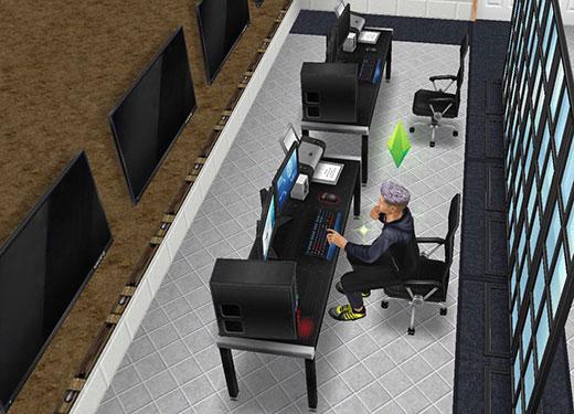 アイスホッケースタジアムの警備室(The Sims フリープレイ)