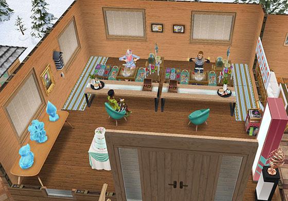 温泉郷シャレー、お土産屋(The Sims フリープレイ)
