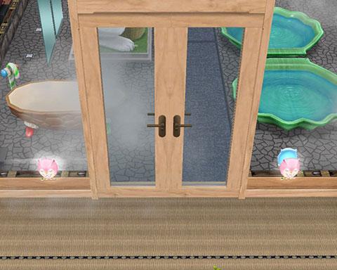 温泉郷シャレー、子ども用うさぎ温泉への扉(The Sims フリープレイ)