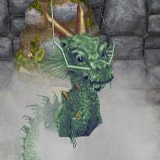 湯けむりから出でるドラゴン像(The Sims フリープレイ)