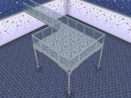 中央ステージのような形の中二階(The Sims フリープレイ )