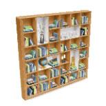 モダンなリビングルームパック・アイテム6:松材の本棚(The Sims フリープレイ )