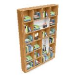 モダンなリビングルームパック・アイテム7:松材の本棚(The Sims フリープレイ )