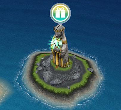 不思議の島モニュメント「古代の女神」無料のライフスタイルポイントポップ(The Sims フリープレイ )