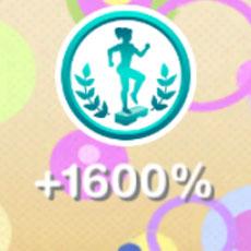趣味「エアロビクス」で獲得した趣味スキル 1600%(The Sims フリープレイ )