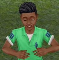 バースデーボーイ、ディラン君(The Sims フリープレイ)