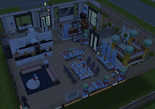 クリスタル&ディラン宅、夜(The Sims フリープレイ)