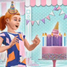 「キッズパーティー」ライブイベントのお知らせアートワーク(The Sims フリープレイ)