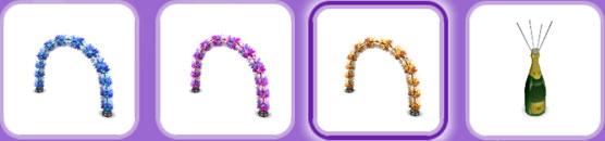 パーティーパック「屋外装飾」アイテム(The Sims フリープレイ)