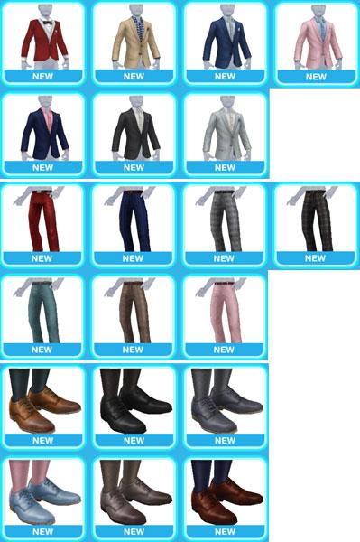 「ロマンチックイブニングウェア」大人の男性シム用ファッションアイテム(The Sims フリープレイ)