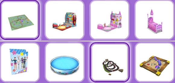オンラインストア商品「プレイタイムパック」中身 アイテムリスト(The Sims フリープレイ)
