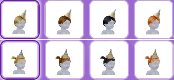 「パーティーパック」アイテム、幼児シムの帽子(The Sims フリープレイ)