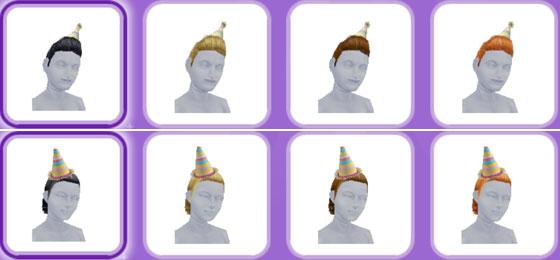 「パーティーパック」アイテム、小学生シムの帽子(The Sims フリープレイ)