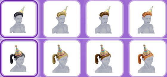 「パーティーパック」アイテム、ティーンシムの帽子(The Sims フリープレイ)