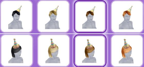 「パーティーパック」アイテム、大人シムの帽子(The Sims フリープレイ)