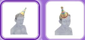 「パーティーパック」アイテム、シニアシムの帽子(The Sims フリープレイ)