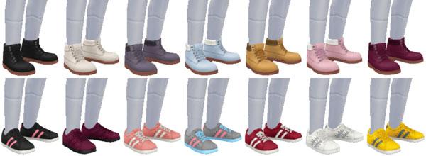 小学生用スペシャルボックス賞品 女の子用「靴」アイテム一覧(The Sims フリープレイ)