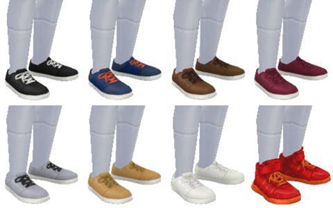 小学生用スペシャルボックス賞品 男の子用「靴」アイテム一覧(The Sims フリープレイ)