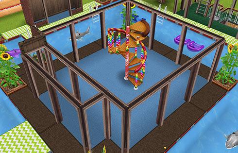 キッズのお泊まり会ハウス プール中央1階(The Sims フリープレイ)