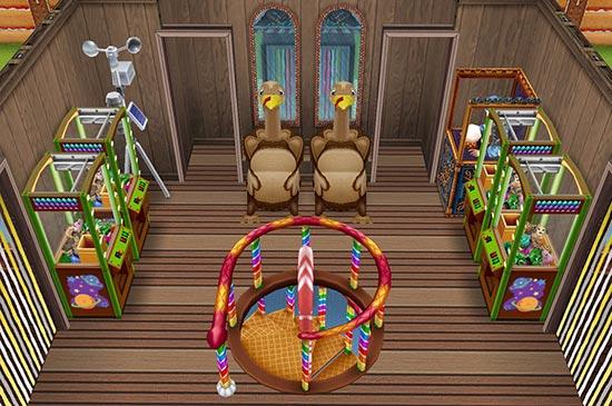 キッズのお泊まり会ハウス 2階 七面鳥のゲームセンター(The Sims フリープレイ)