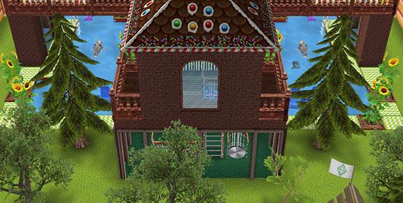 キッズのお泊まり会ハウス 階段小屋と森(The Sims フリープレイ)