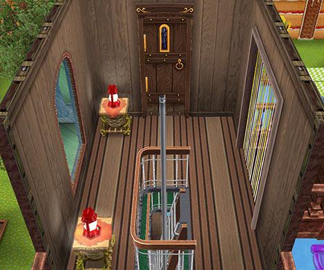 キッズのお泊まり会ハウス 階段小屋 2階(The Sims フリープレイ)