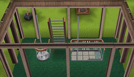 キッズのお泊まり会ハウス 階段小屋1階(The Sims フリープレイ)