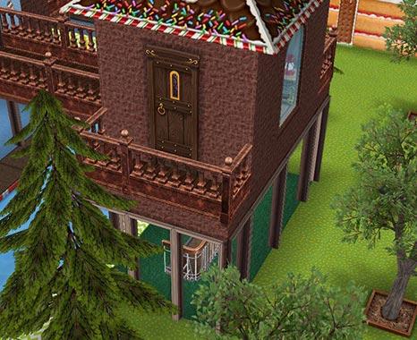 キッズのお泊まり会ハウス 階段小屋バルコニーと木々(The Sims フリープレイ)