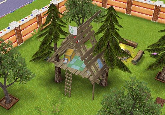 森の秘密基地、ツリーハウス(The Sims フリープレイ)