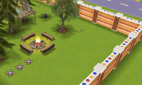 キッズのお泊まり会ハウス 焚き火とドローン広場(The Sims フリープレイ)