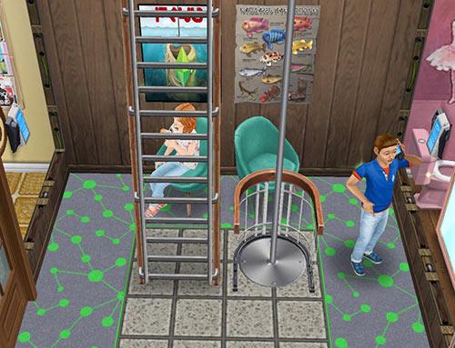 キッズのお泊まり会ハウス 電話エリア(The Sims フリープレイ)