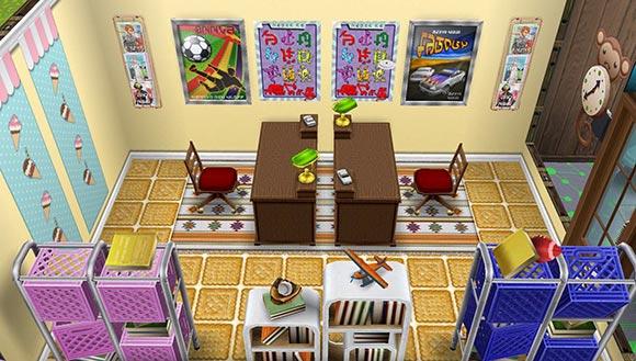 キッズのお泊まり会ハウス こども図書室(The Sims フリープレイ)