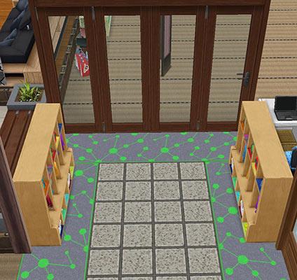 キッズのお泊まり会ハウス 靴脱ぎスペースとロッカー(The Sims フリープレイ)