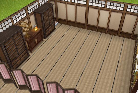 キッズのお泊まり会ハウス 畳の多目的大広間(The Sims フリープレイ)
