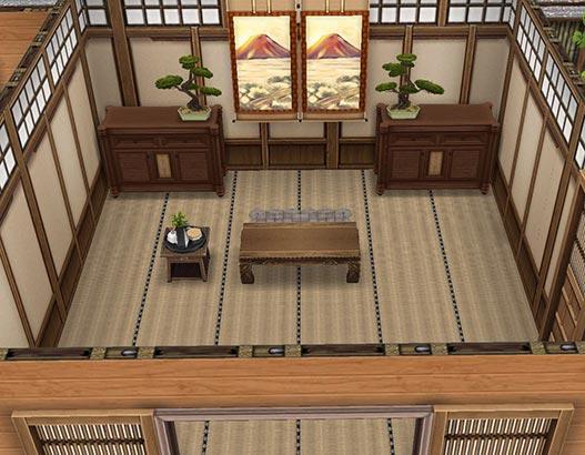 武士の書斎 兼 客人との対面の間(The Sims フリープレイ)