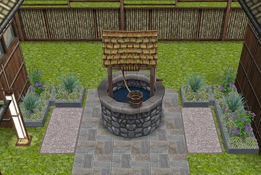 日本家屋の井戸(The Sims フリープレイ)