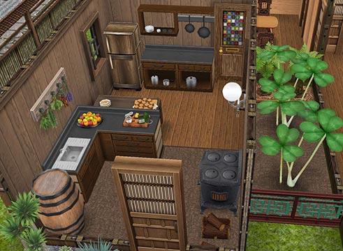 昔風の台所(The Sims フリープレイ)